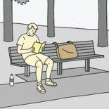 readingcomicinpublic